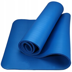 AQUA-SPORT MATA GRUBA DO ĆWICZEŃ NBR BLUE 183x61x1cm