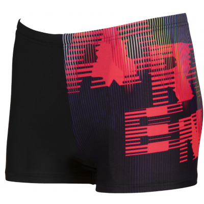 ARENA SPODENKI HIGHLIGHT JR SHORT BLACK-FLUO RED