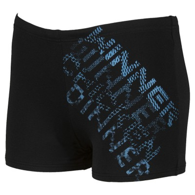ARENA SPODENKI BOKSERKI BOY RHYMING JUNIOR SHORT BLACK-TURQUOISE