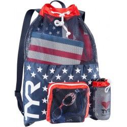 TYR WOREK NA SPRZĘT ALLIANCE BIG MESH MUMMY BAG BACKPACK RED-NAVY USA