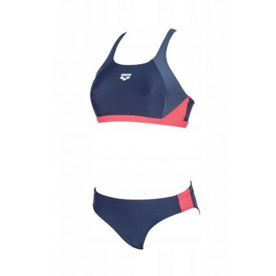 ARENA W REN TWO PIECES NAVY-SHARK-FLUO RED