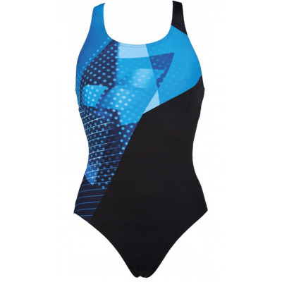 ARENA WOMEN HIMMEL ONE PIECE  BLACK TURQUOISE