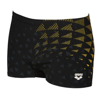 ARENA ONE TUNNEL VISION SHORT BLACK-YELLOW STAR