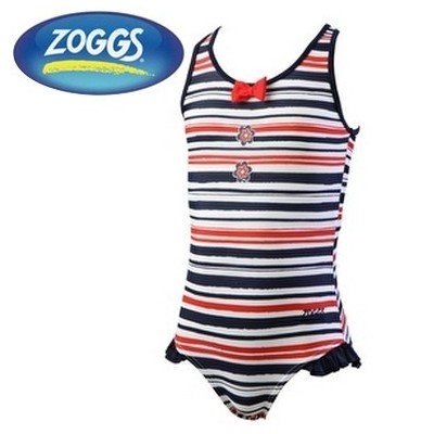 ZOGGS KOSTIUM BASENOWY HENLEY JR SCOOPBACK RED