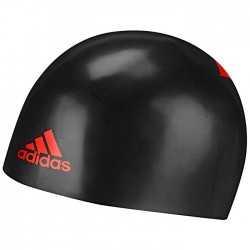 ADIDAS CZEPEK STARTOWY SILICONE 3D CAP BLACK RED ROZMIAR M