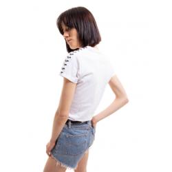 ARENA KOSZULKA WOMEN T-SHIRT TEAM ICONS WHITE-WHITE-BLACK ROZMIAR L