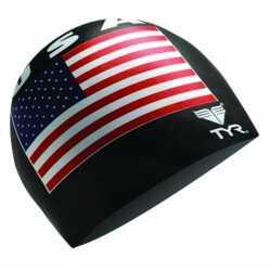 TYR CZEPEK USA 200 SWIM CAP BLACK 001