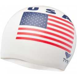 TYR CZEPEK USA 2000 SWIM CAP WHITE 100