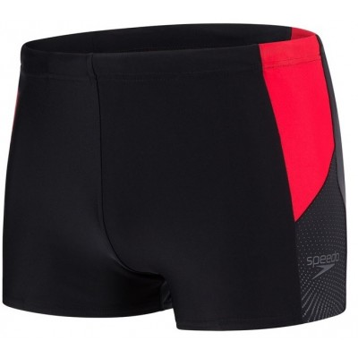 SPEEDO SPODENKI BOKSERKI MEN DIVE AQUASHORT BLACK-RED-GREY ROZMIAR D3