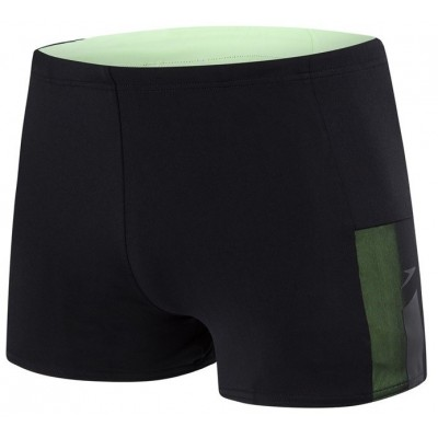SPEEDO SPODENKI BOKSERKI MEN MESH PANEL AQUASHORT BLACK-GREEN ROZMIAR D4