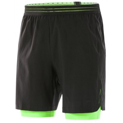 SPEEDO SPODENKI SZORTY REFLECTWAVE FLEX 2 IN 1 WATERSHORT BLACK-GREEN ROZMIAR M