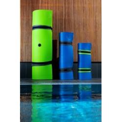 AQUA-SPORT MATA PŁYWAJĄCA WYSPA LONG FLOATING MAT GREEN-ORANGE ROZMIAR 550x185x4cm