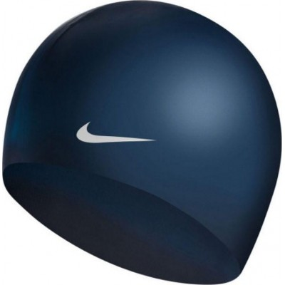 NIKE CZEPEK OS SOLID SILICONE CAP MIDNIGHT NAVY