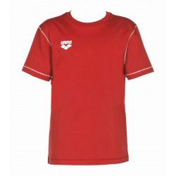ARENA KOSZULKA T-SHIRT UNISEX JUNIOR TL S/S TEE RED WZROST 128